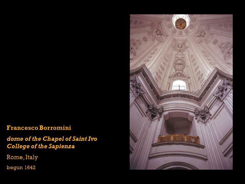 Francesco Borromini dome of the Chapel of Saint Ivo College of the Sapienza Rome, Italy begun 1642