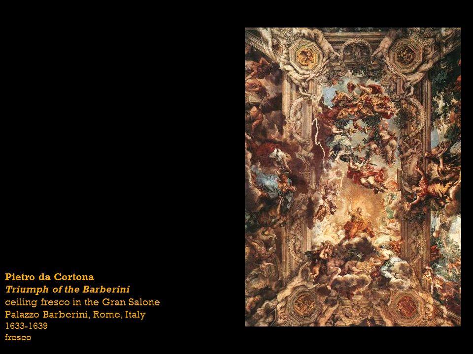 Pietro da Cortona Triumph of the Barberini ceiling fresco in the Gran Salone Palazzo Barberini, Rome, Italy 1633-1639 fresco