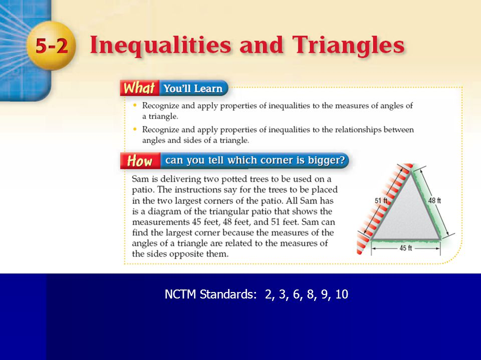 NCTM Standards: 2, 3, 6, 8, 9, 10