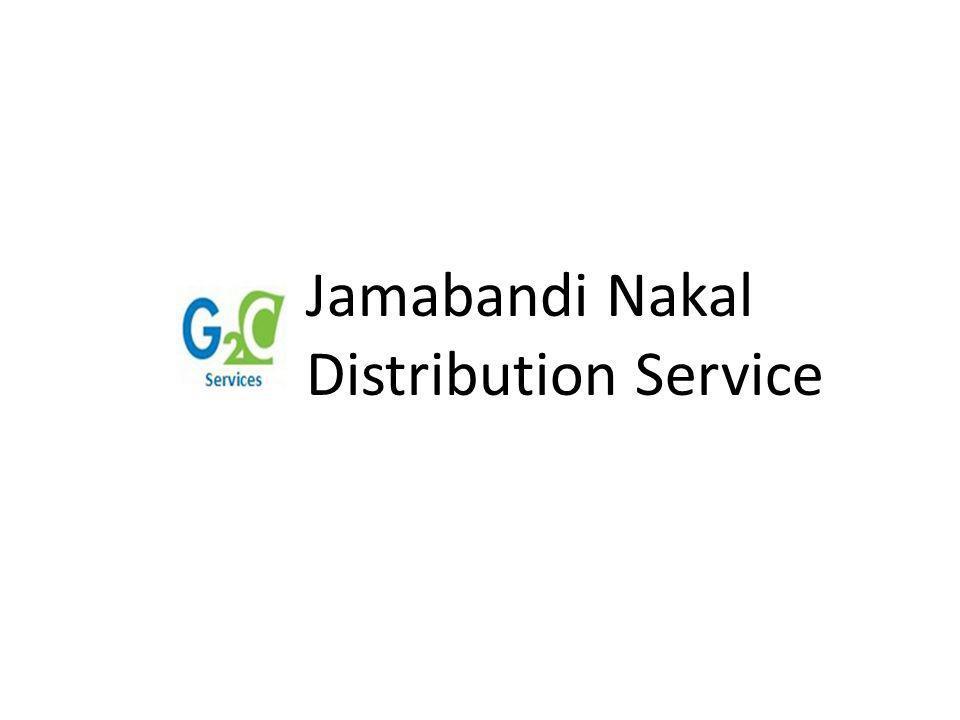 Jamabandi Nakal Distribution Service