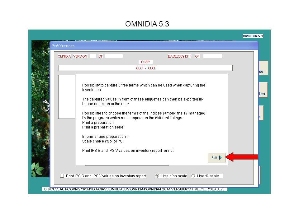 OMNIDIA 5.3 How to: find an inventory.