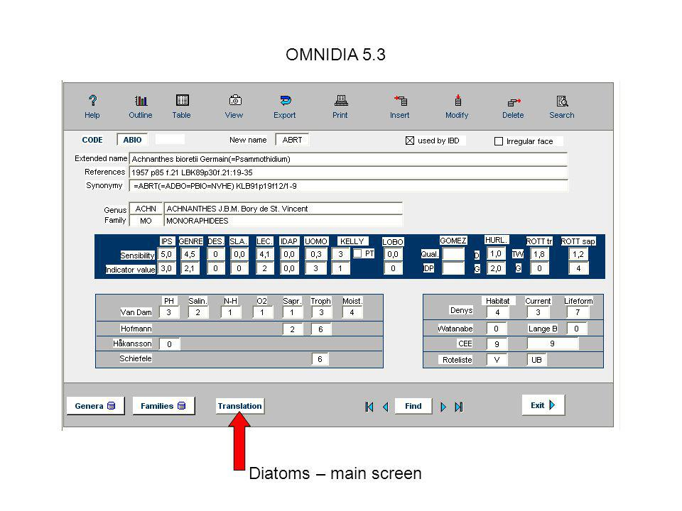 OMNIDIA 5.3 Displaying totals per family or types.