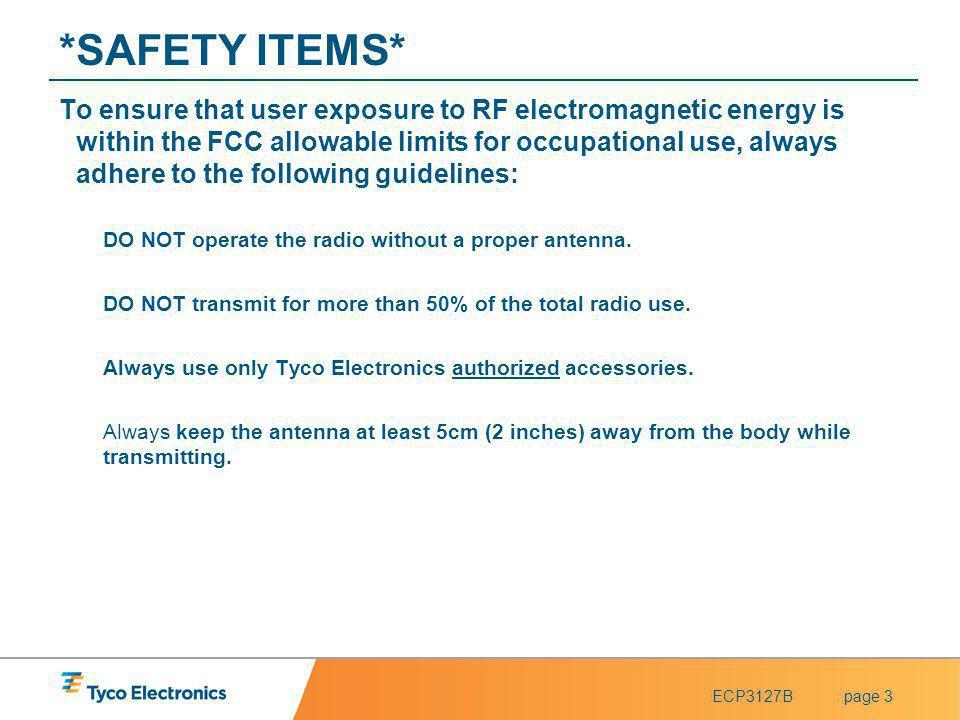 ECP3127Bpage 34 Accessories Speaker Microphones - General –External Antenna –Radio Antenna Holders –Belt Clip –Belt Loops –Leather Case –Fabric Case
