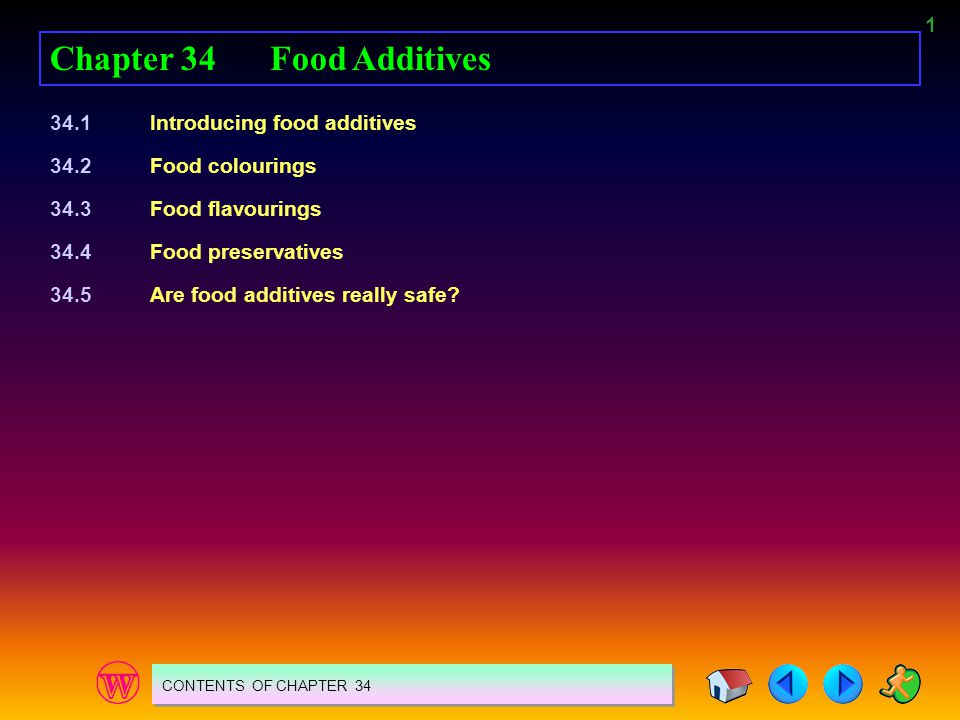 52 SUMMARY 1.A food additive is a chemical added to food to improve it or to preserve it.