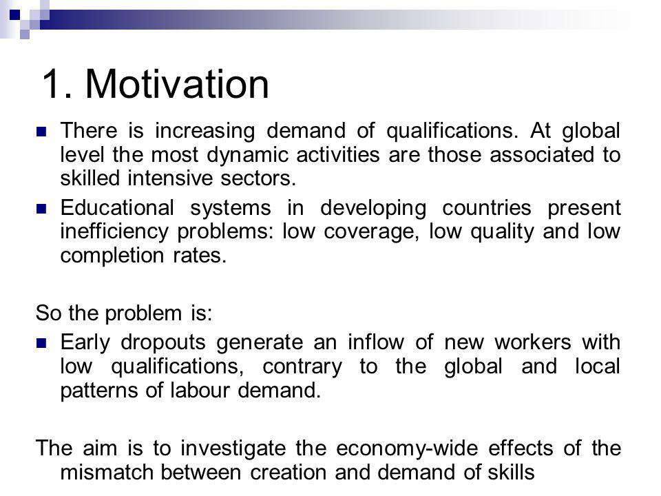 1. Motivation There is increasing demand of qualifications.