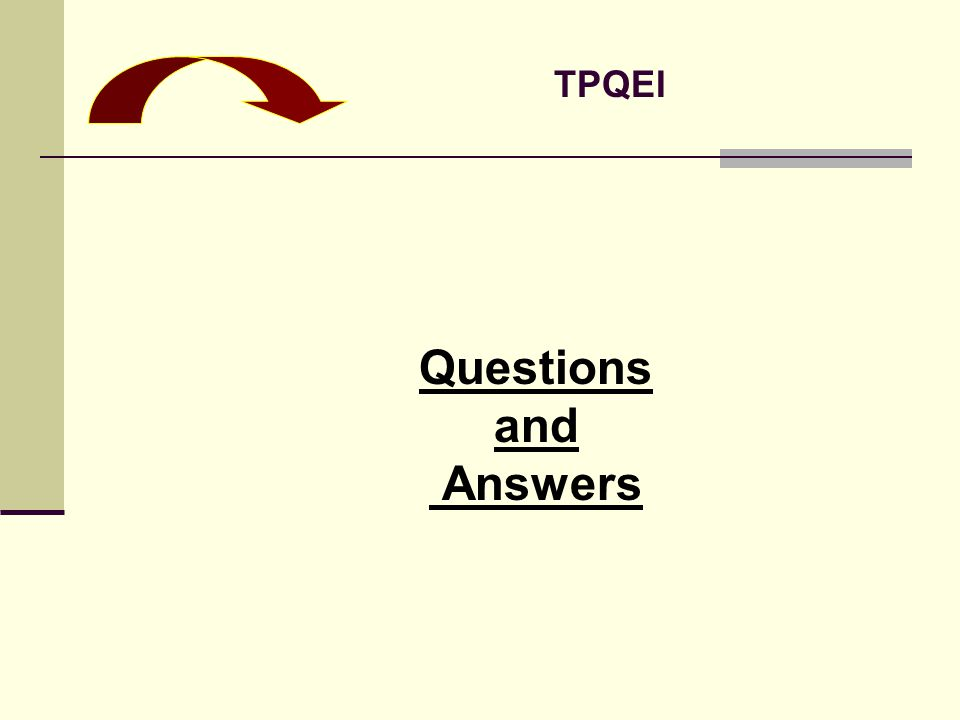 Questions and Answers TPQEI