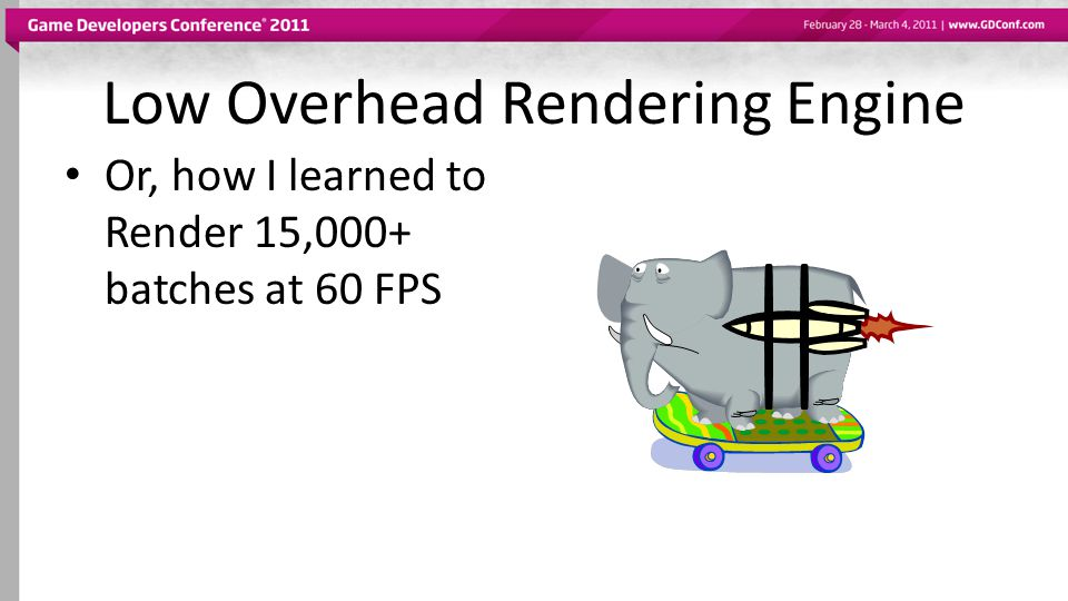 Leader Rendering Largely done with DX10.1 rendering tech New Variable bit rate compression technology implemented for D3D11.