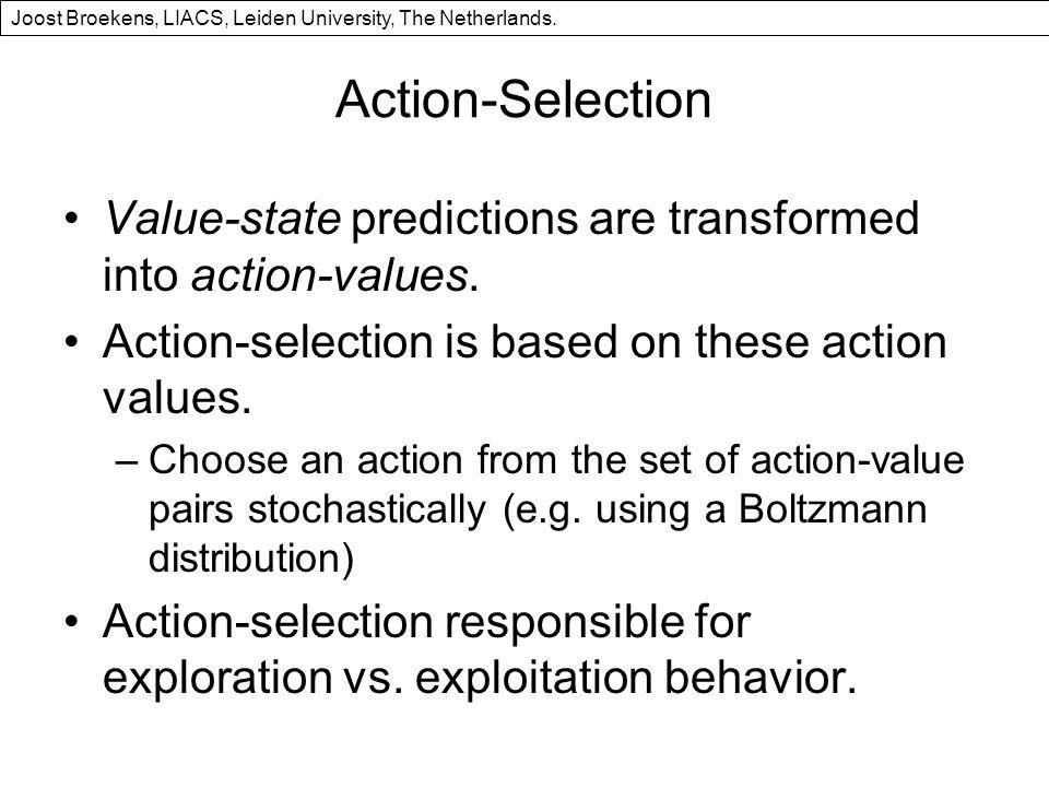 Action-Selection Value-state predictions are transformed into action-values.
