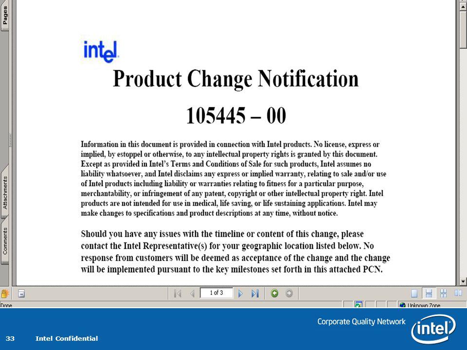 Intel Confidential 33