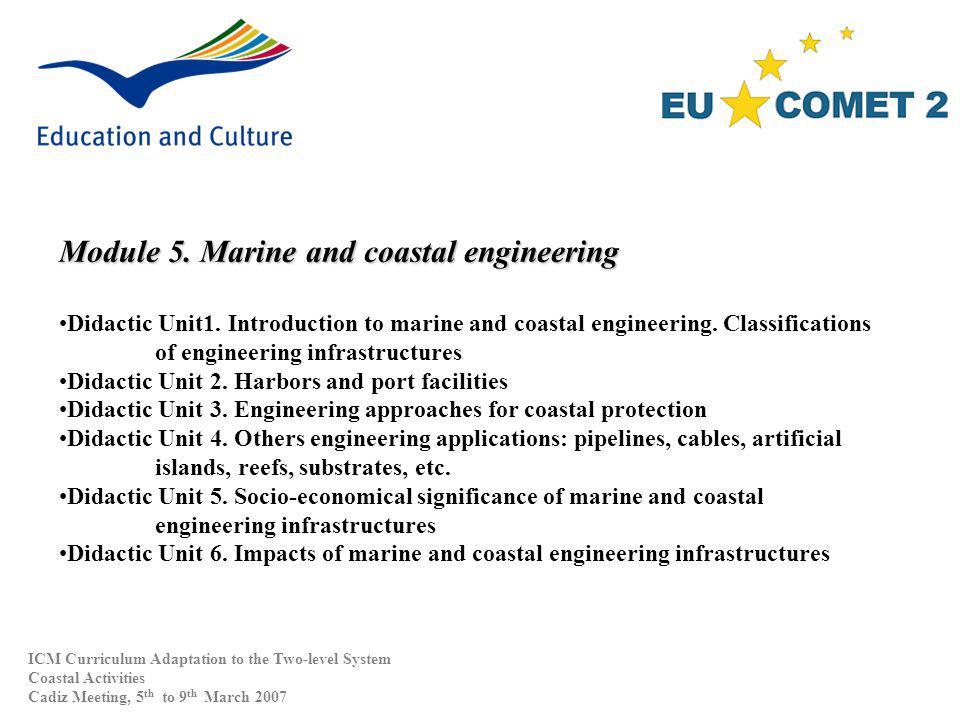 Module 5. Marine and coastal engineering Didactic Unit1.