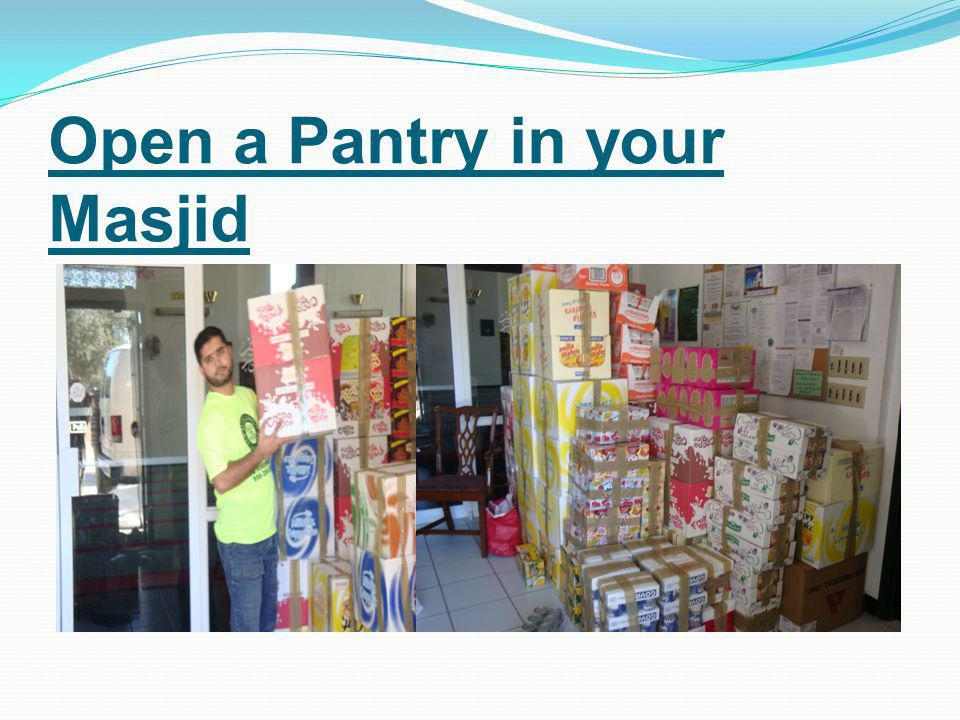 Open a Pantry in your Masjid