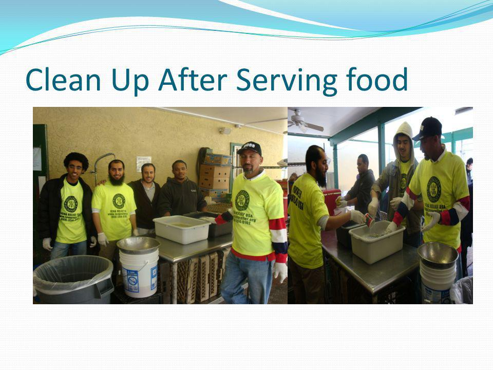 Clean Up After Serving food