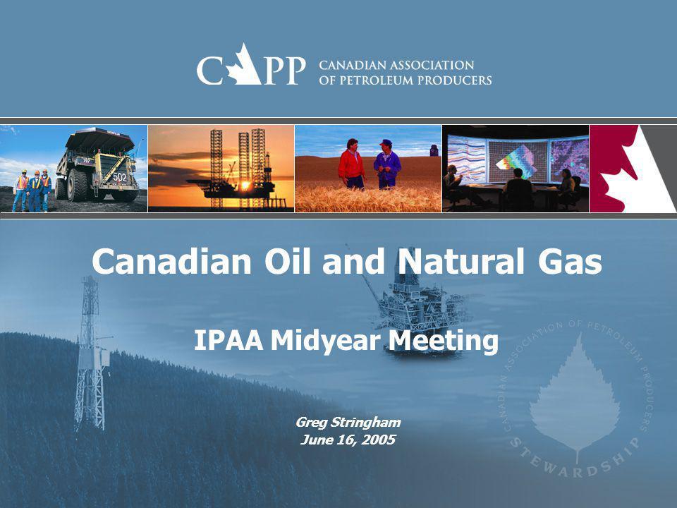 Canadian Oil Production Conventional, Oil Sands and Offshore WCSB Conventional Oil Oil Sands Offshore Source: CAPP ActualForecast Oil Sands Growth: 2004 = 1 million b/d 2015 = 2.7 million b/d