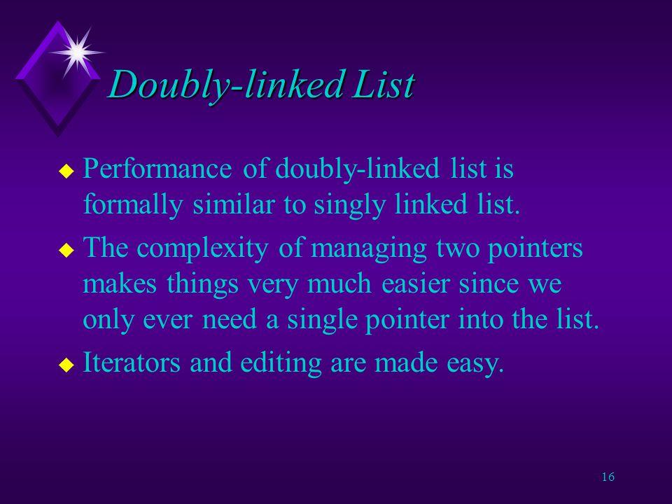 15 Doubly-linked List tail head c newItem