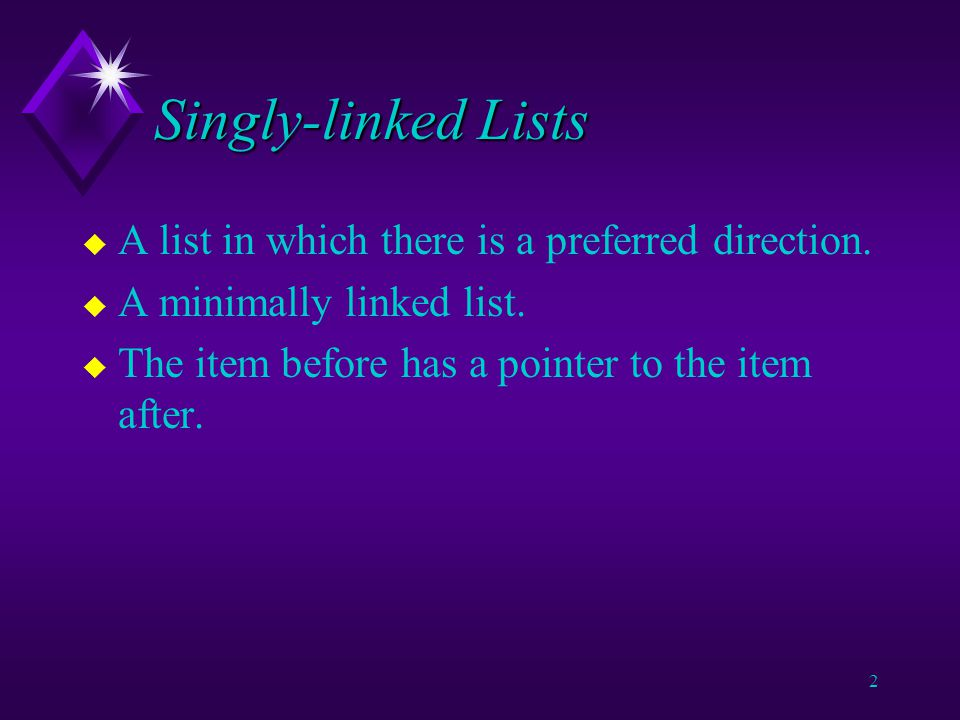 1 Linked Lists A linked list is a sequence in which there is a defined order as with any sequence but unlike array and Vector there is no property of contiguity of memory.