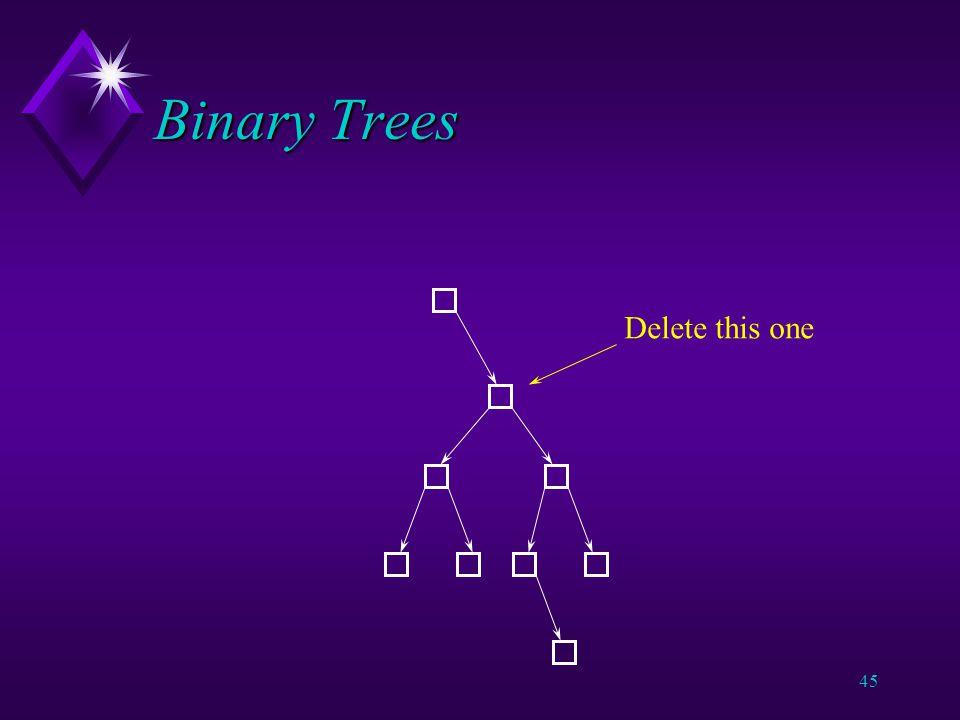 44 Binary Trees Assume ascending order.