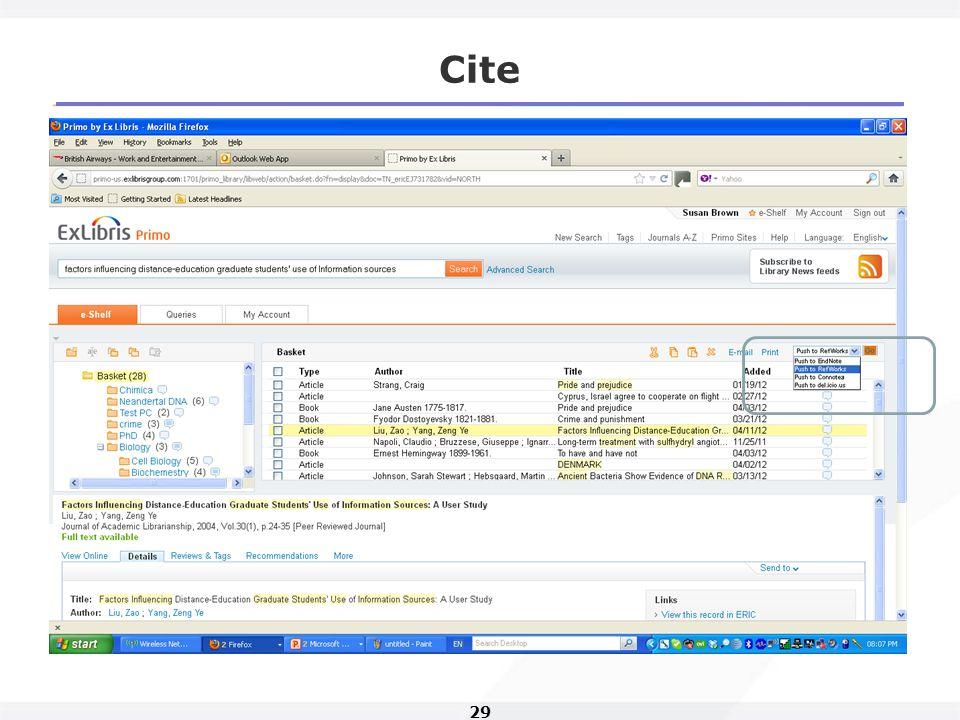 29 Cite Show example