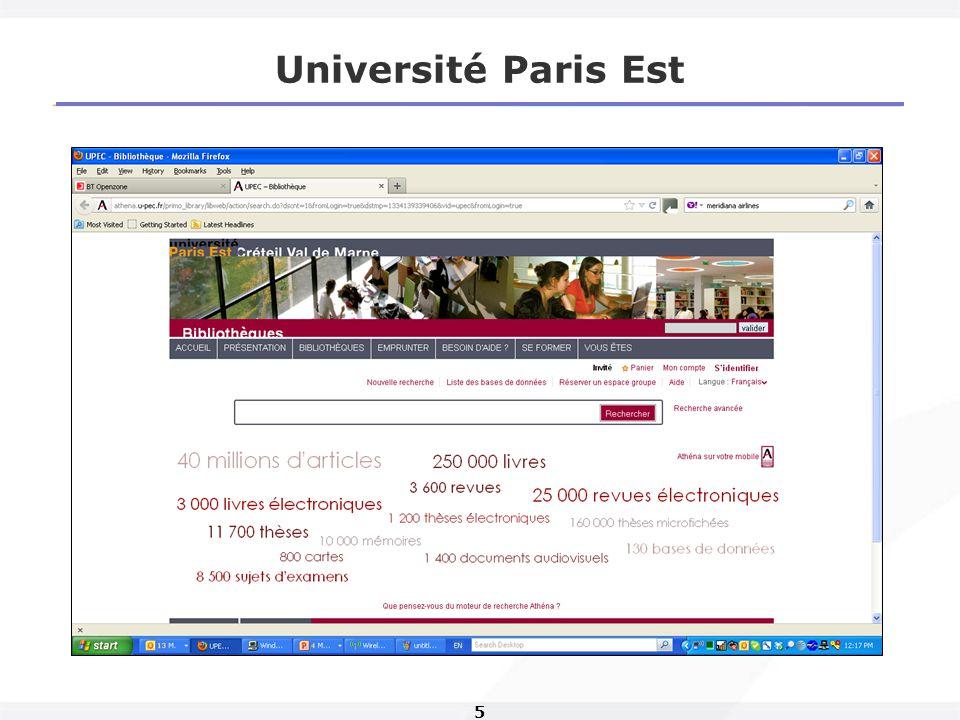 5 Université Paris Est