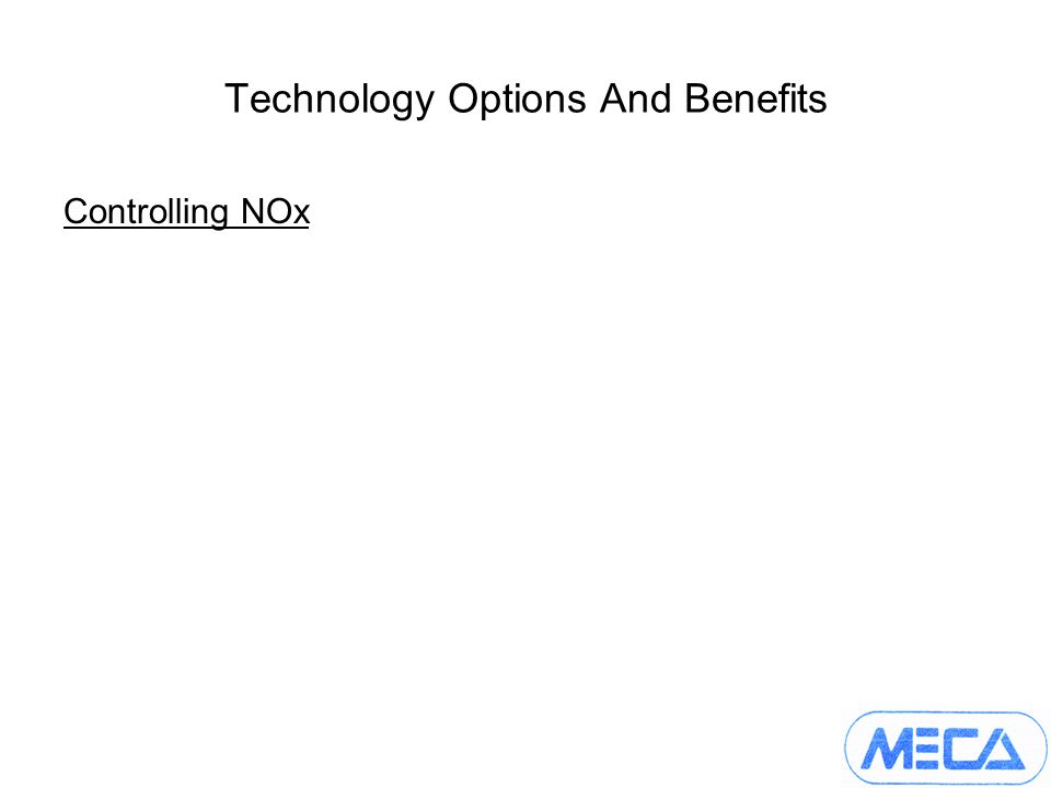 Technology Options And Benefits Controlling NOx