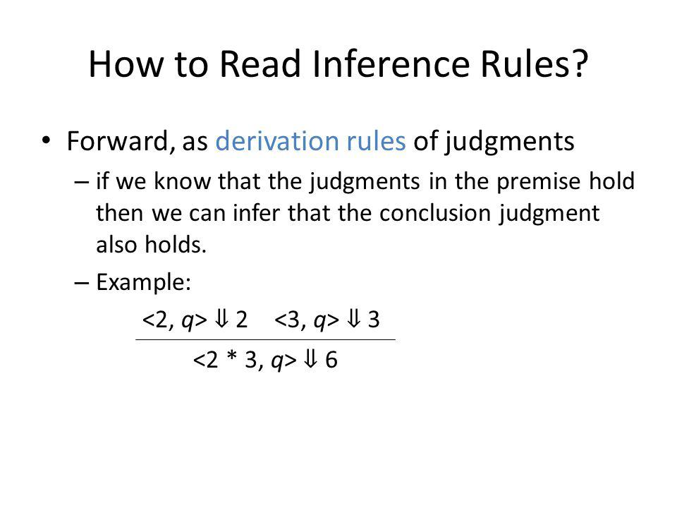 How to Read Inference Rules.