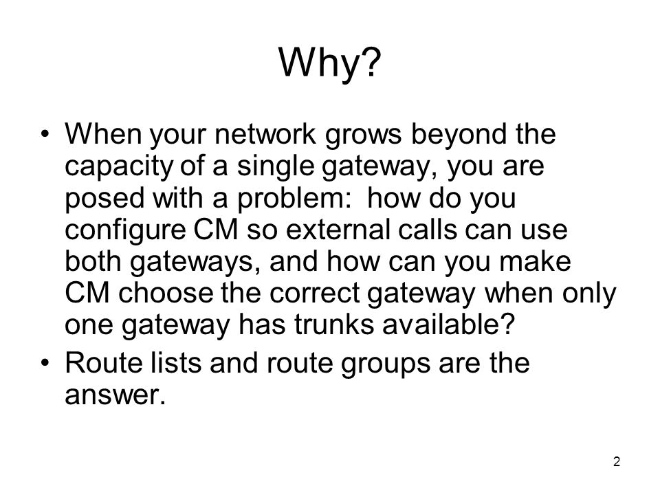 33 Inbound Dialing-Defining Translation Patterns Although this example permits the use of gateway called party transformations to convert an inbound phone number to an extension number, configuring the map using translation patterns saves some reconfiguration effort if you ever purchase another phone number range from the phone company.