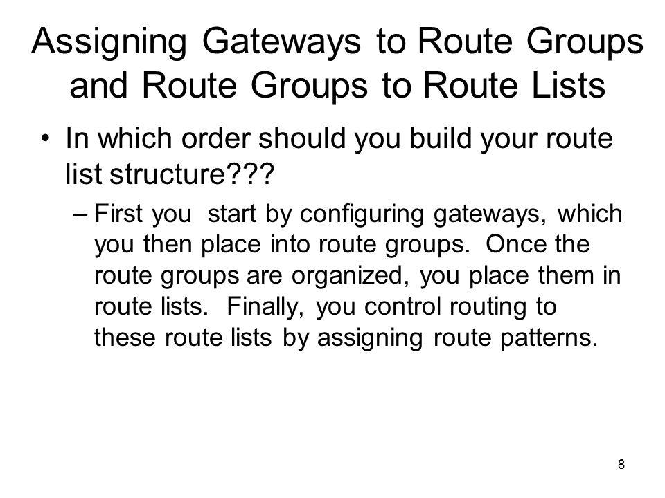 9 Creating Gateways Types of gateways: –MGCP –H.323 –SIP