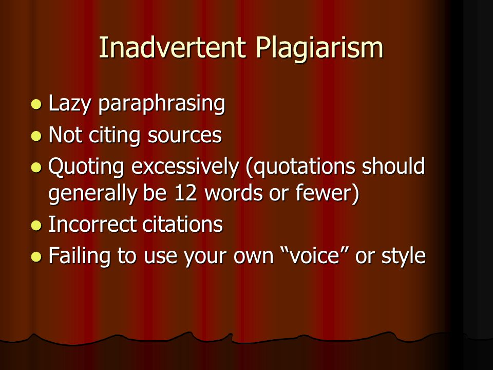 School Consequences for Plagiarizing see Agenda p.