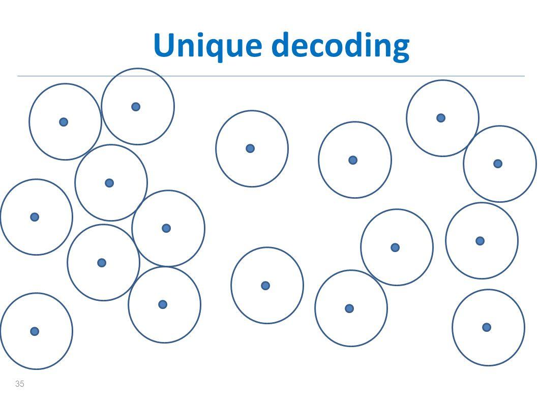 Unique decoding 35