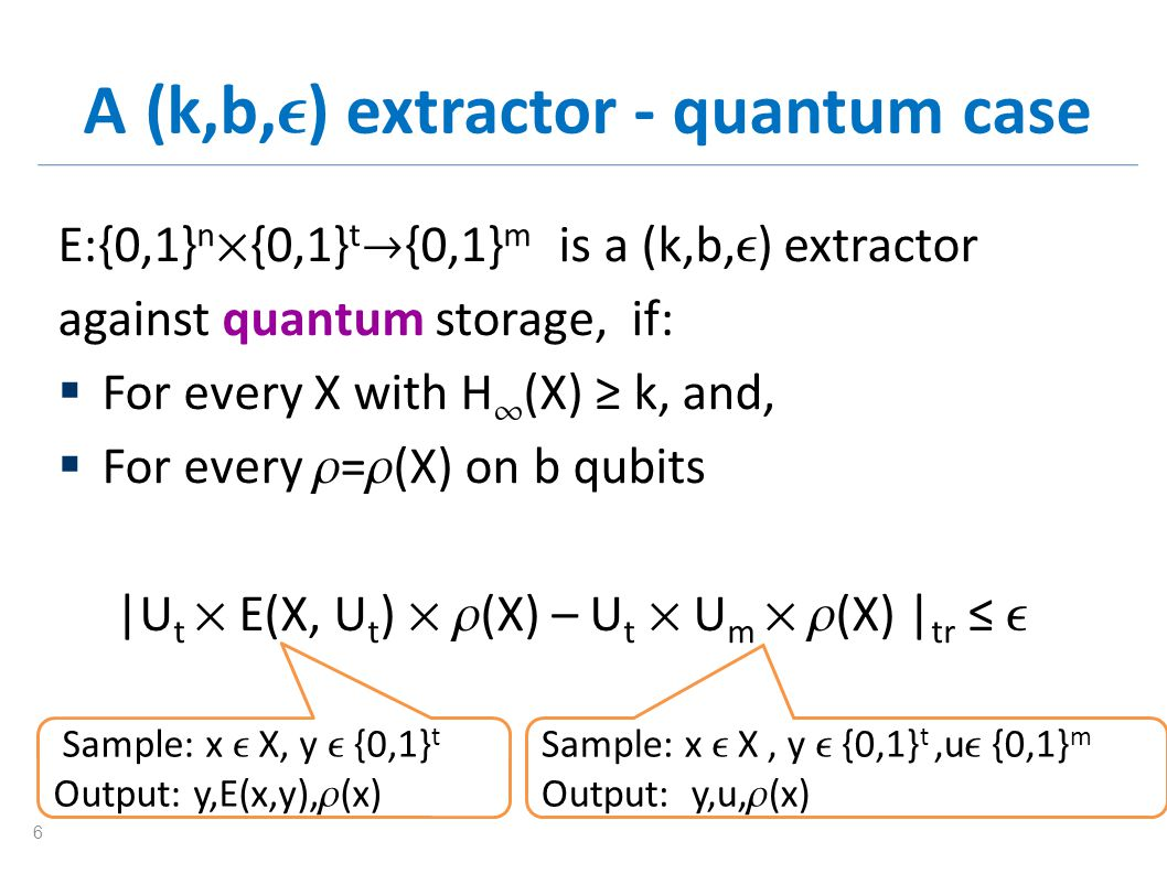 In the quantum world Some extractors fail.