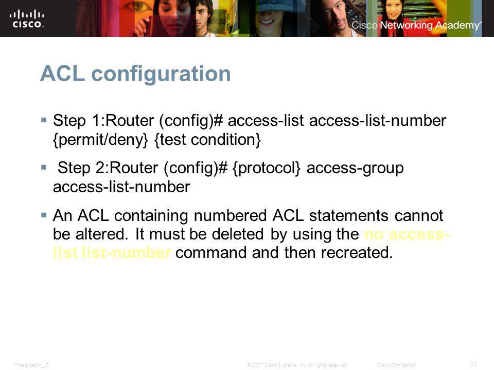 Presentation_ID 11 © 2007 Cisco Systems, Inc.