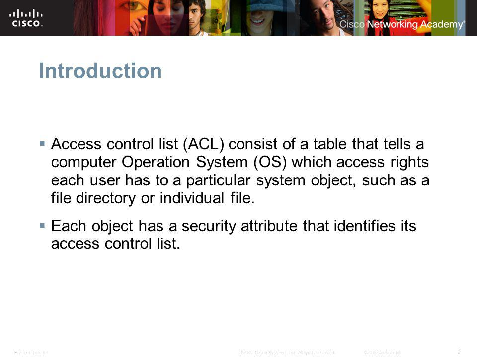 Presentation_ID 3 © 2007 Cisco Systems, Inc.