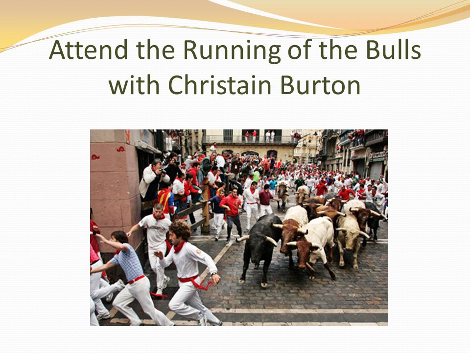 Attend the Running of the Bulls with Christain Burton