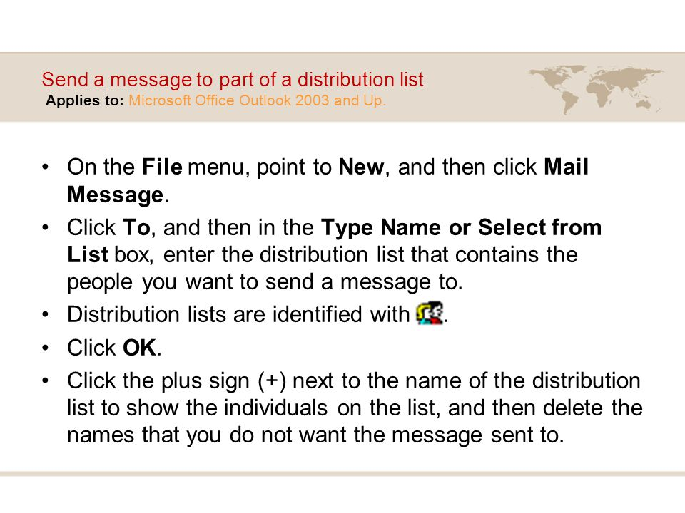 On the File menu, point to New, and then click Mail Message.