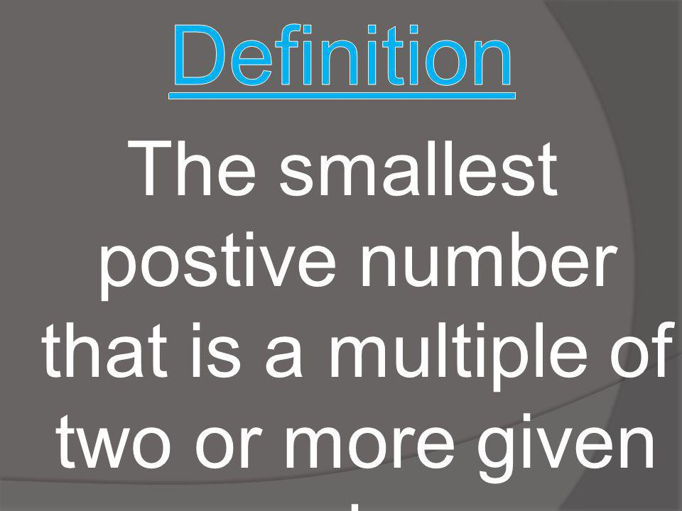 STEP 1: List the first 10 multiples of the greater number.
