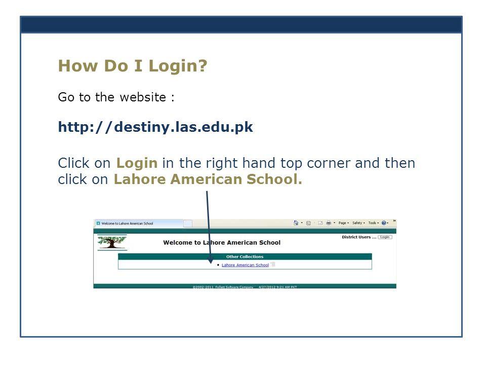 How Do I Login.