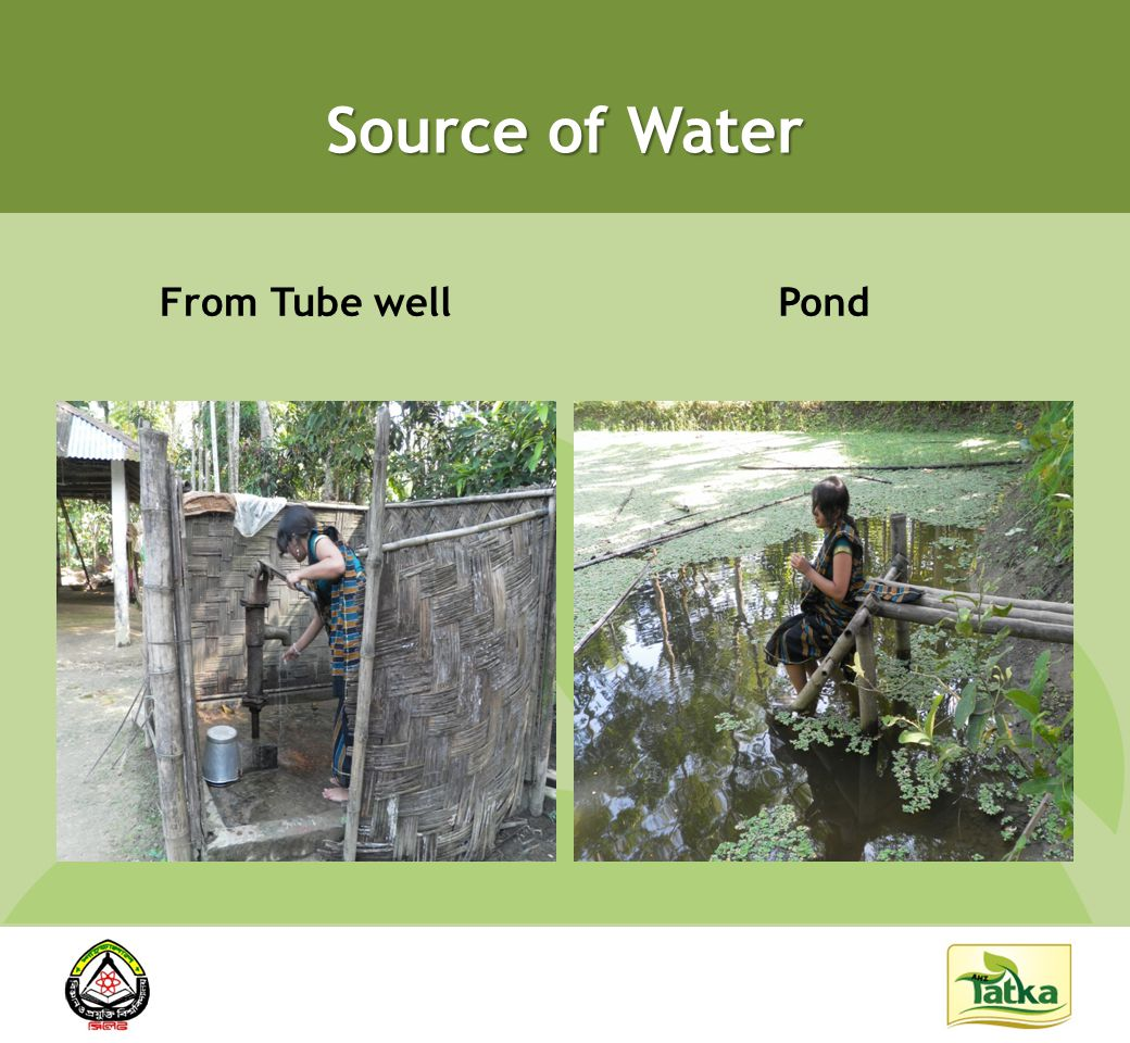 Source of Water From Tube wellPond