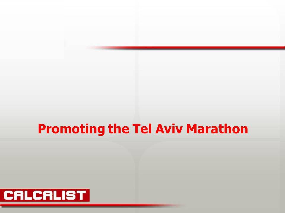Promoting the Tel Aviv Marathon