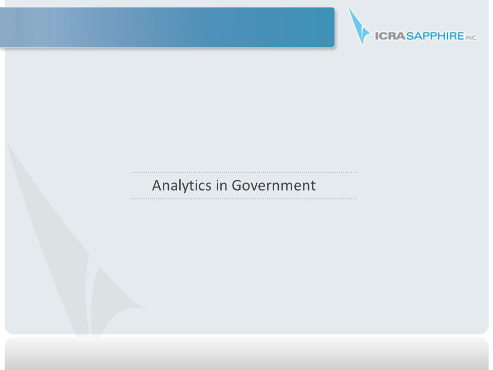 Analytics in Government