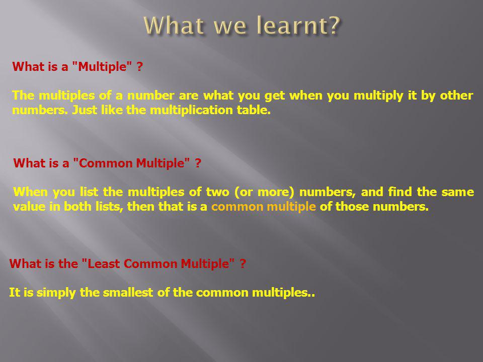 What is a Multiple .