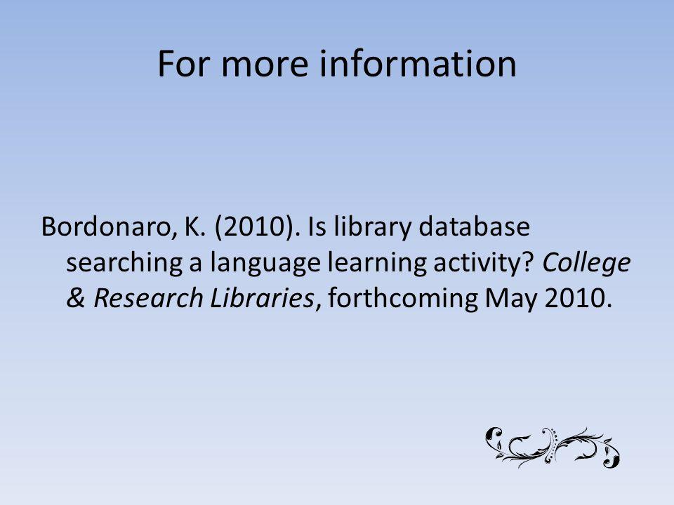 For more information Bordonaro, K. (2010).