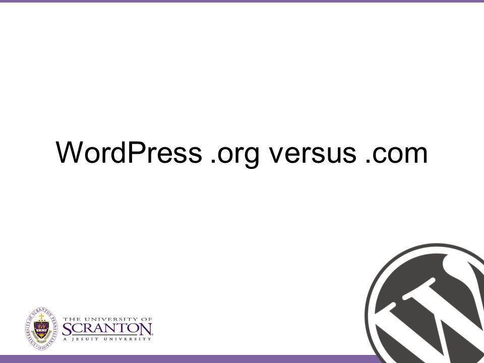 WordPress.org versus.com