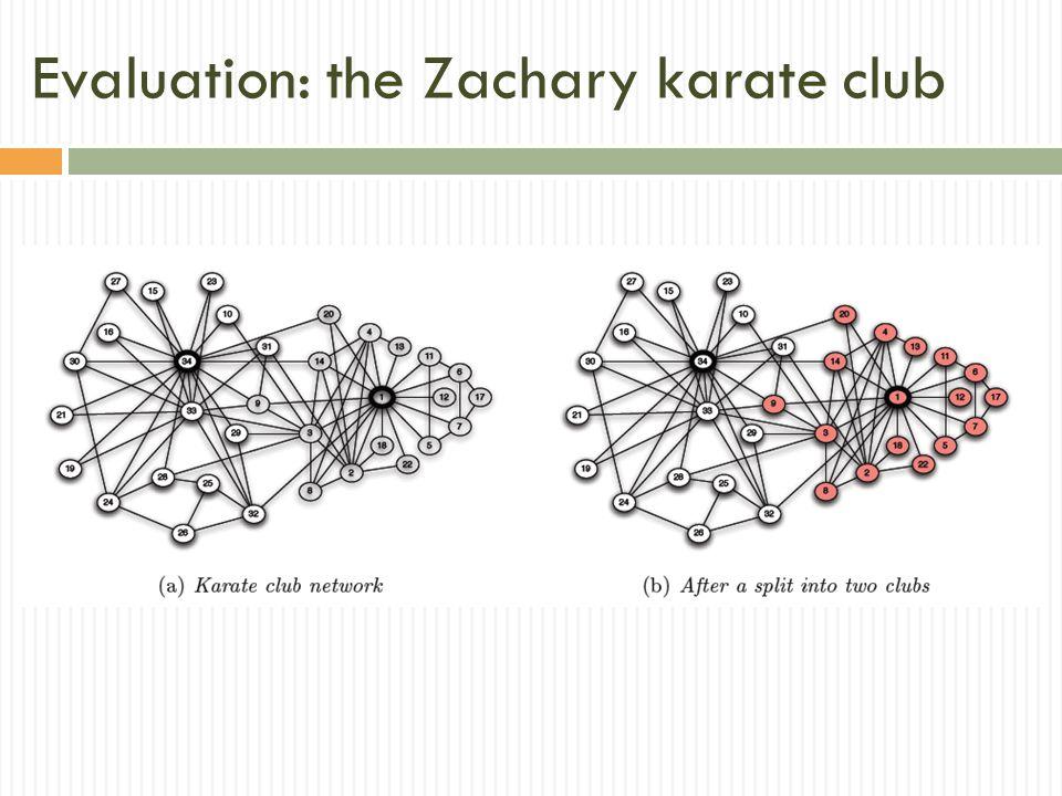 Evaluation: the Zachary karate club