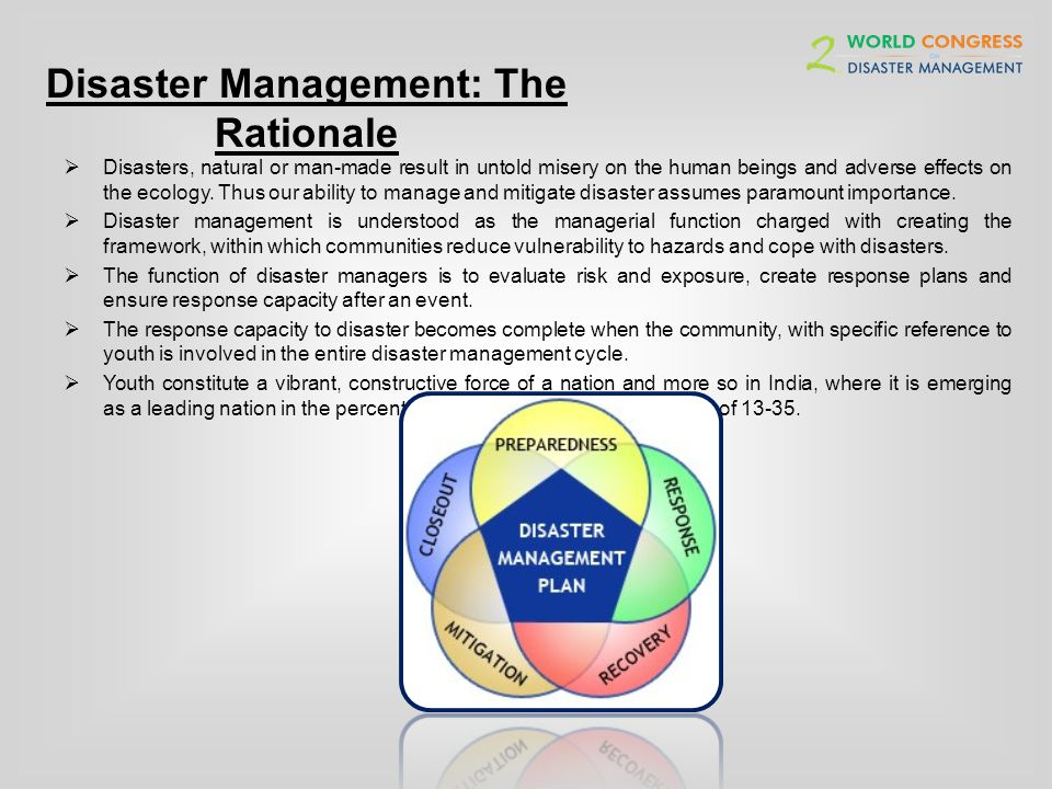 Disaster Management: The Rationale The recent tragedy in Uttarakhand has once again raised question on countrys preparedness to evaluate environmental risks and ability to manage a natural calamity of such a magnitude.