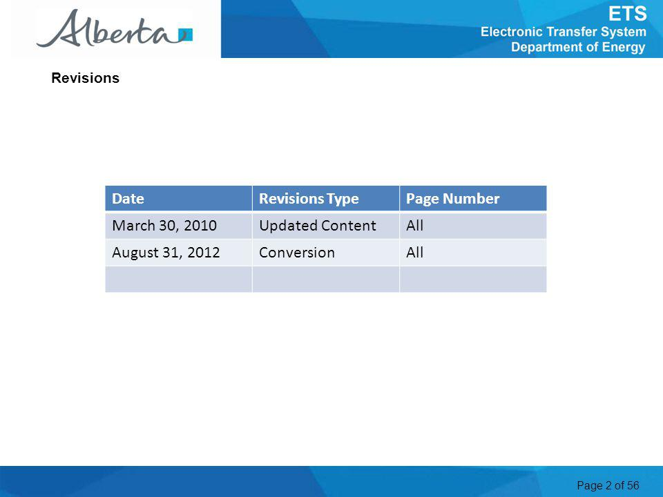 Page 13 of 56 1.To Log on to the ETS web site: Enter the Site Administrator ID issued by the Alberta Department of Energy (EN0000) or a Client Account ID issued by the Site Administrator (EN0000_accountname) into the User Name field.