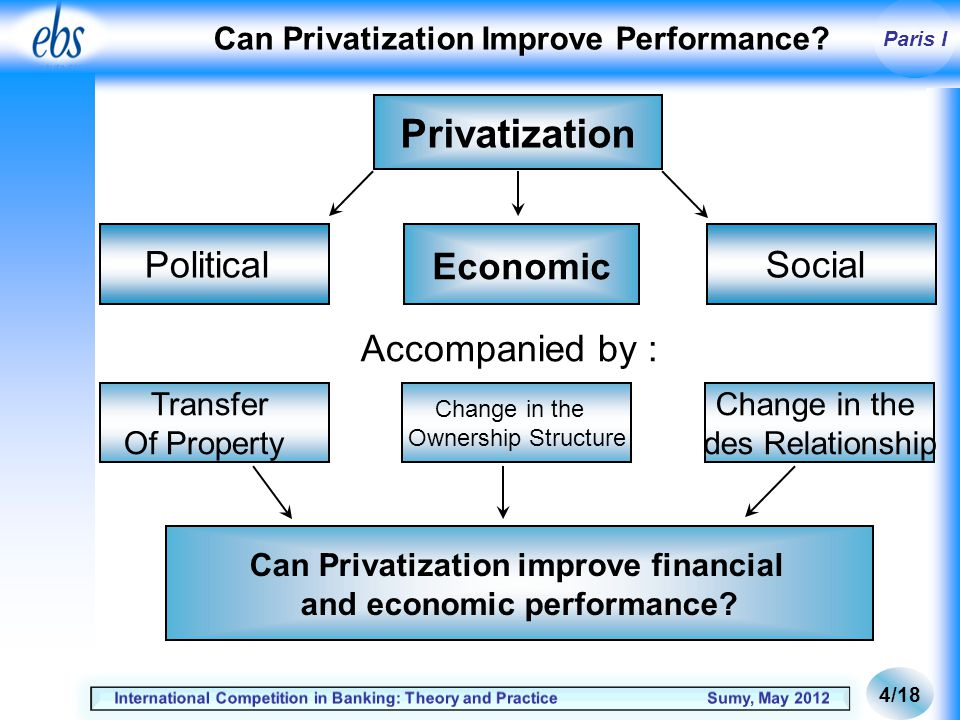 Paris I Can Privatization Improve Performance.