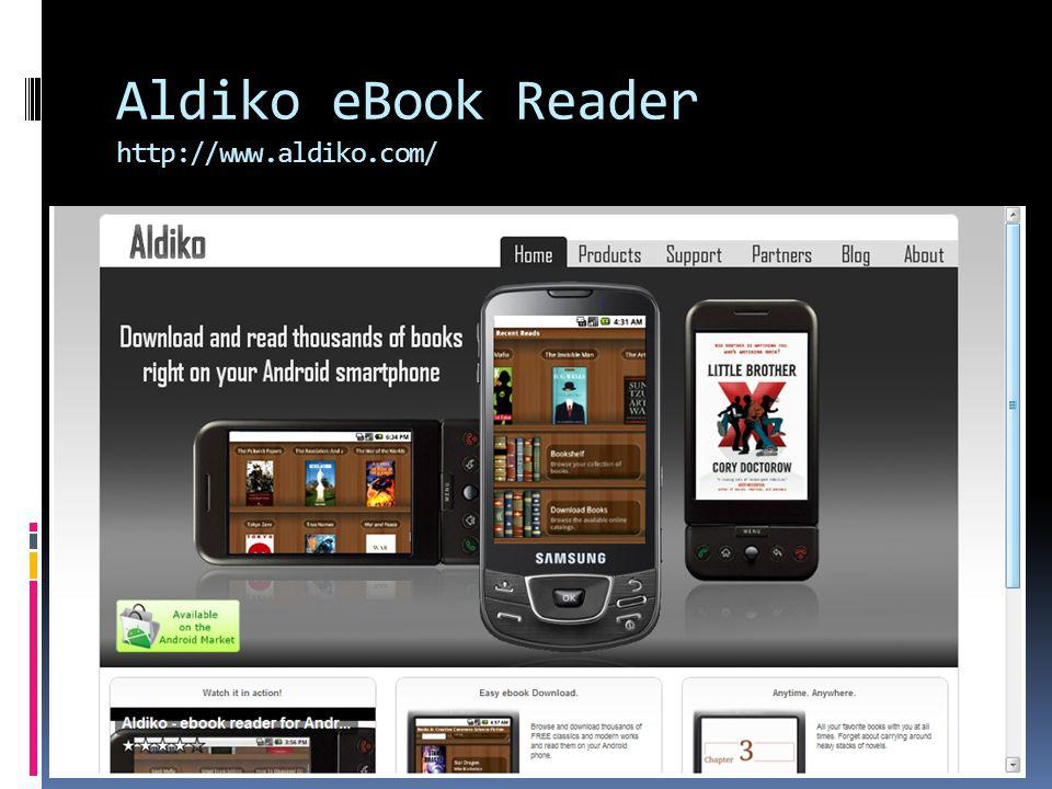 Aldiko eBook Reader http://www.aldiko.com/