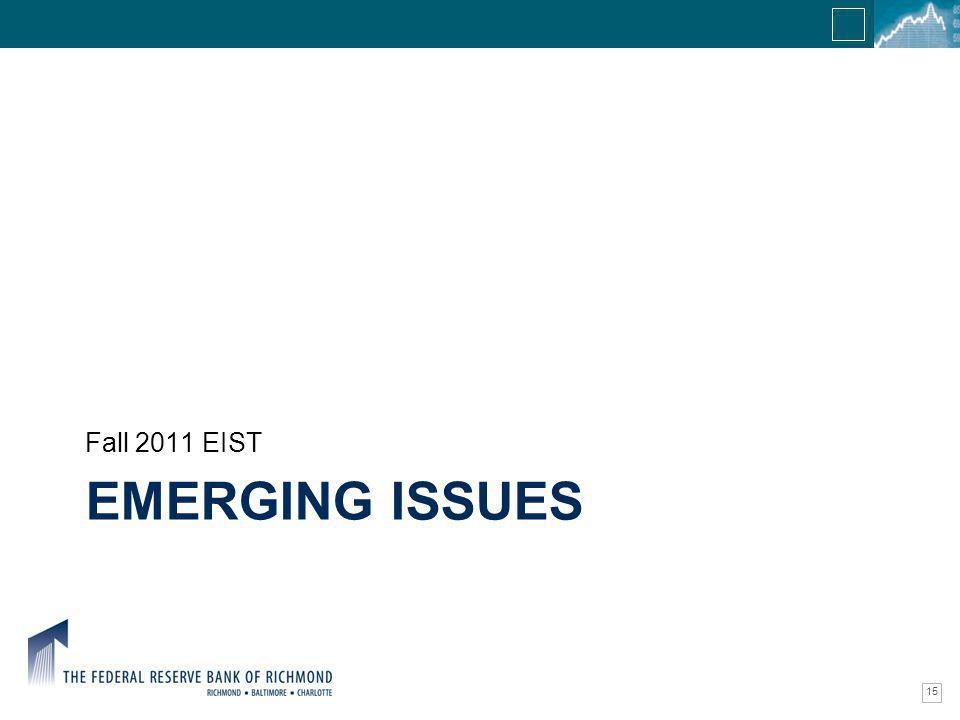 Confidential Information EMERGING ISSUES Fall 2011 EIST 15
