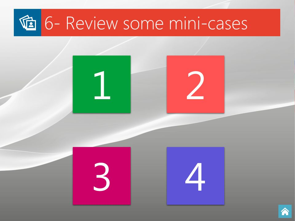 6- Review some mini-cases 1 1 2 2 3 3 4 4