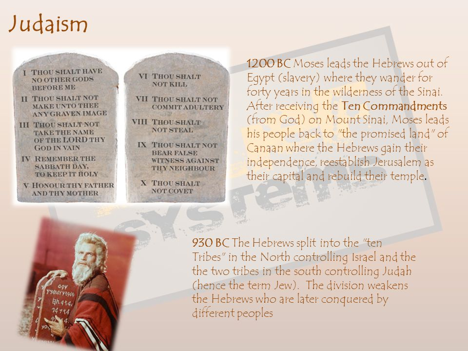 Judaism The World of Hebrews The Hebrews were among the many people who occupied the Fertile Crescent. As a consequence of this contact, they slowly d