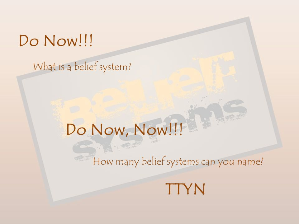 During this unit we will – Further your understanding of the major belief systems that have dominated civilization for thousands of yeas.